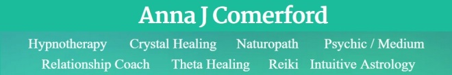 Anna Comerford, psychic and natural therapies