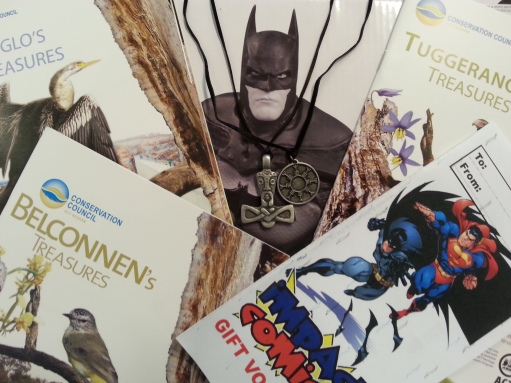 Batman of Impact Comics and booklets from the Conservation Council