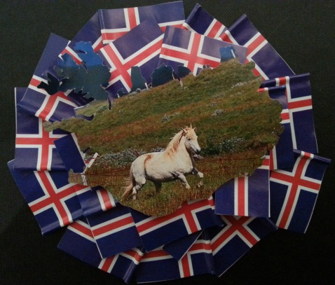 Horse Iceland photo on Iceland flags