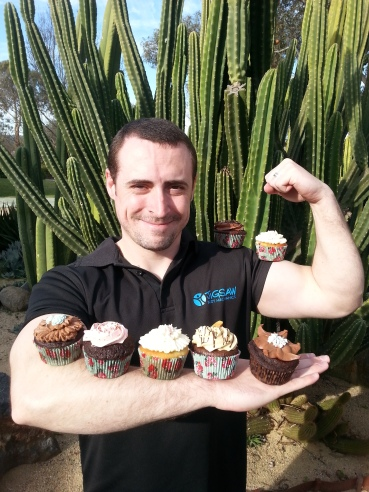 Lots of cupcakes, lots of biceps!